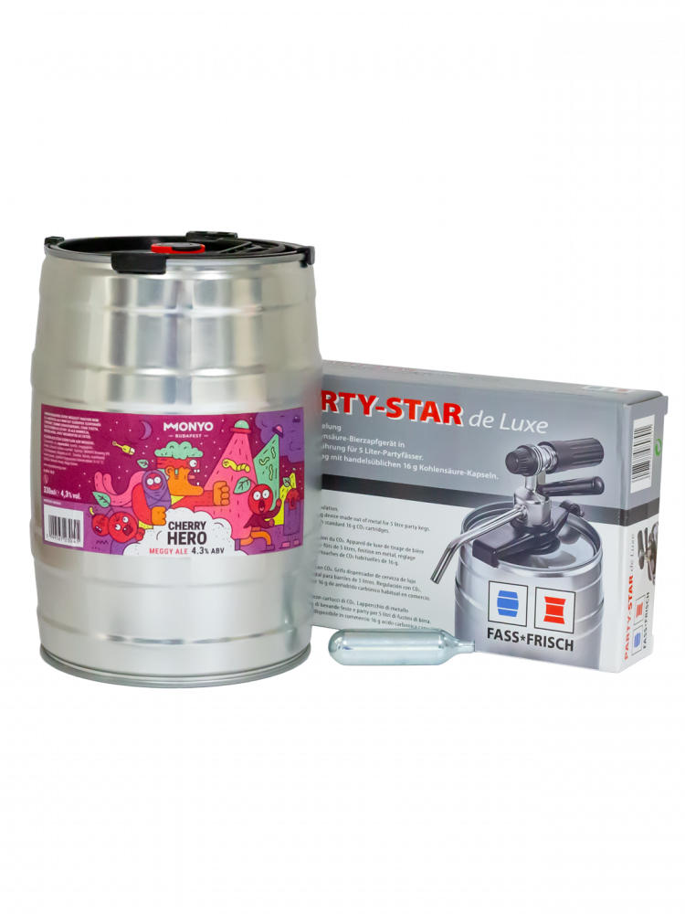 Cherry Hero 4.3% 5l Party KEG Kit