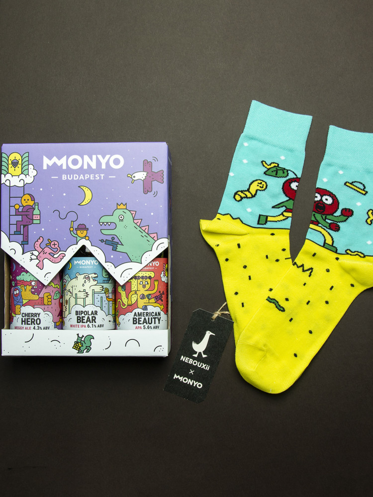 MONYO x Nebouxii Cherry Hero Sock Pack