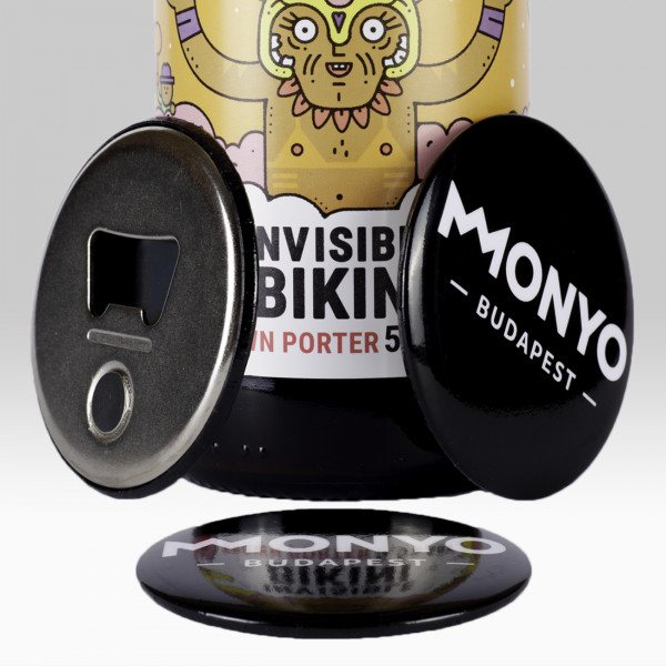 MONYO Brewing bottle opener fridge magnet (black)
